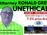 Is Attorney RONALD GREEN UNETHICAL - Alleged fraudulent DMCA notice for corrupt attorney Randazza