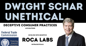 DWIGHT SCHAR team involved in ROCA LABS nutraceuticals accused deceptive consumer practices