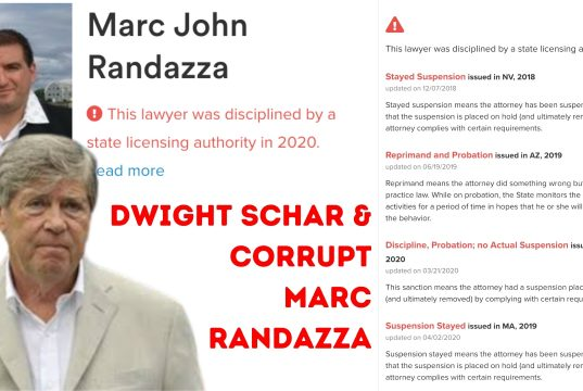 CORRUPT ATTORNEY MARC RANDAZZA REPRESENTS DWIGHT SCHAR AND BELLA COLLINA's REPUTATION