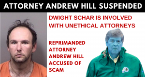 FLORIDA BAR SUSPENDED ATTORNEY ANDREW HILL FOR UNETHICAL VIOLATIONS